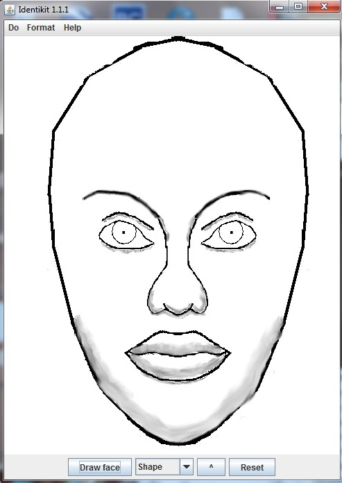 Facial drawing program